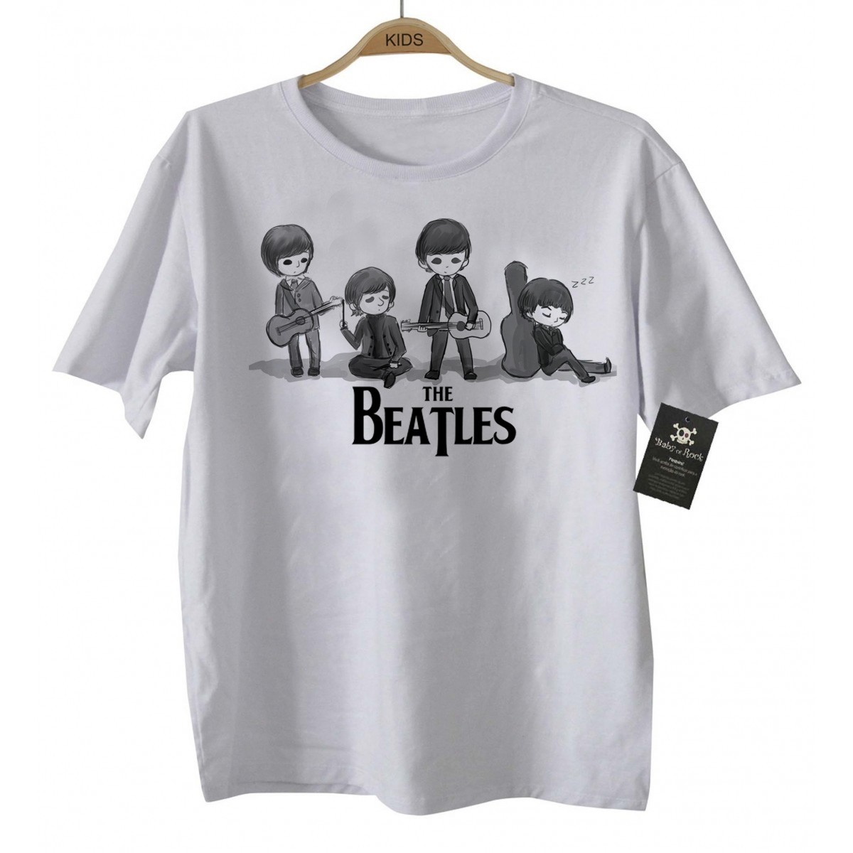 Camiseta Infantil - Beatles - White  - Baby Monster - Body Bebe