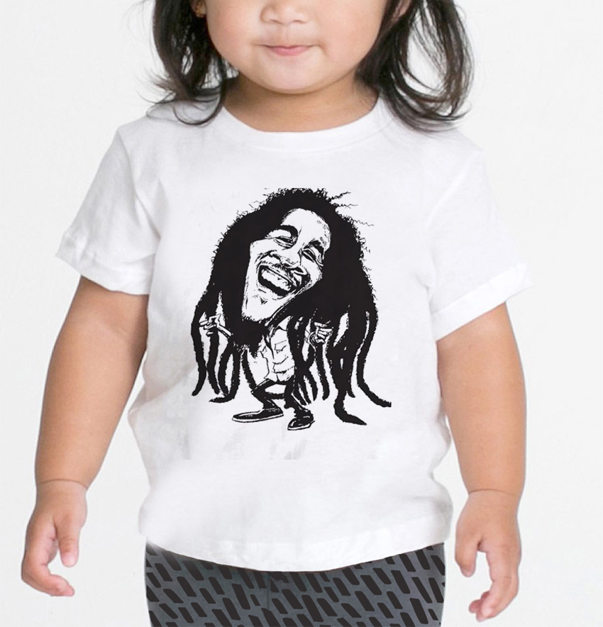Camiseta de Reggae Infantil - Bob - White  - Baby Monster - Body Bebe