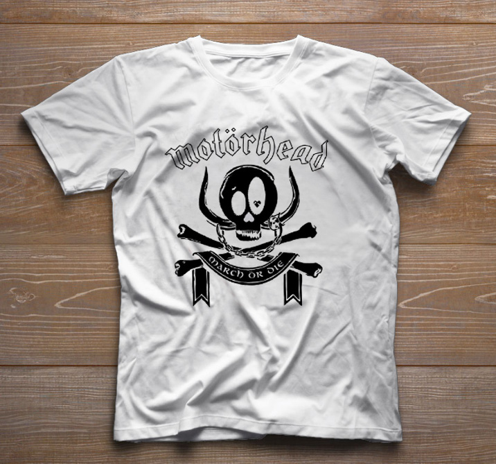 Camiseta de Rock Baby - Motorhead - White - Baby Monster S/A