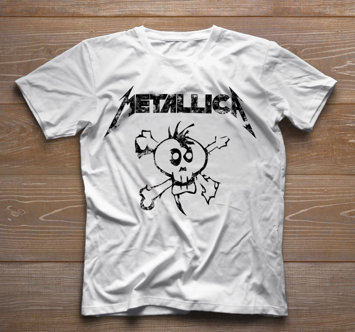 Camiseta de Rock Infantil - Metallica - White  - Baby Monster S/A