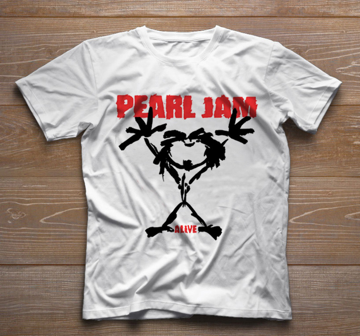 Camiseta de Rock Infantil - Pearl Jam - White  - Baby Monster - Body Bebe