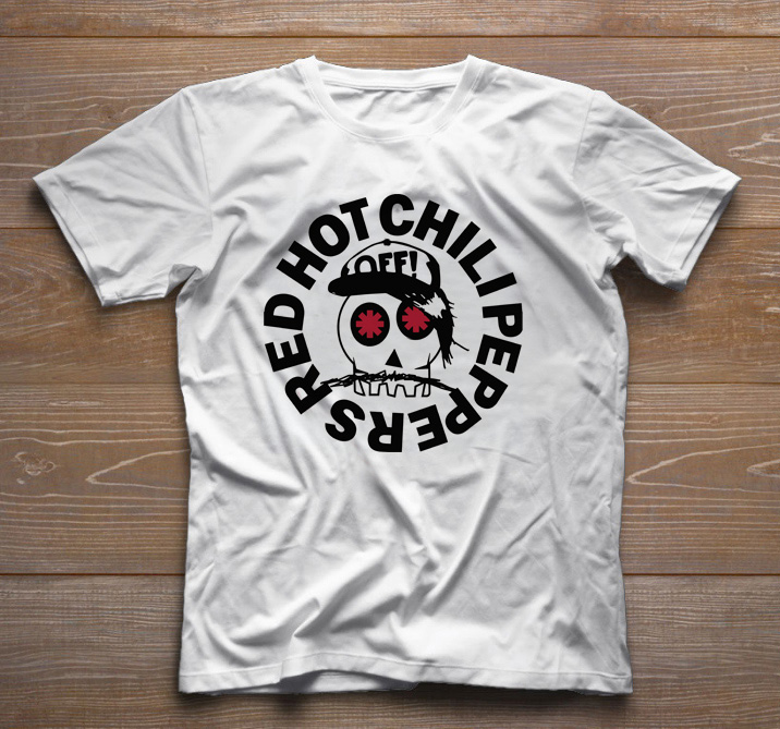 Camiseta de Rock Infantil - Red Hot Chilli Peppers - White  - Baby Monster - Body Bebe