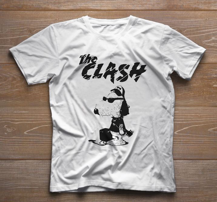 Camiseta de Rock Infantil - The Clash - White  - Baby Monster S/A
