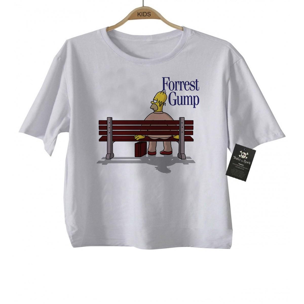 Camiseta de Filme Infantil - Forrest Gump - White  - Baby Monster - Body Bebe