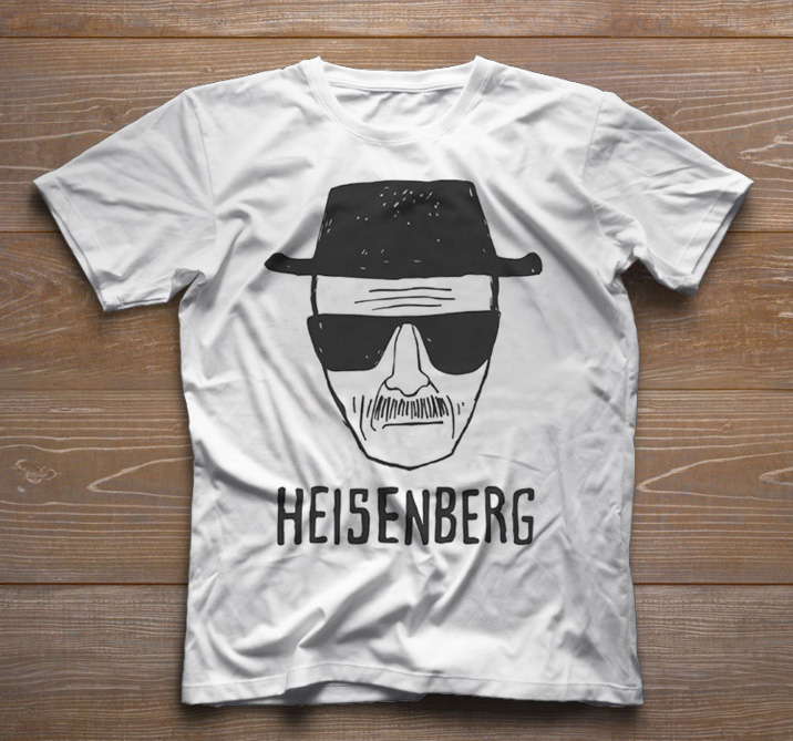 Camiseta de Série Infantil - Breaking Bad - Walter White -  Heisenberg - White  - Baby Monster - Body Bebe