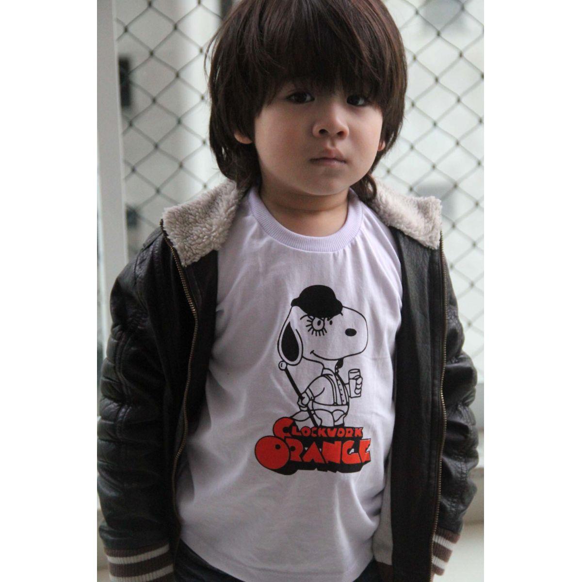Camiseta de Filme Infantil - Laranja Mecânica - White  - Baby Monster S/A