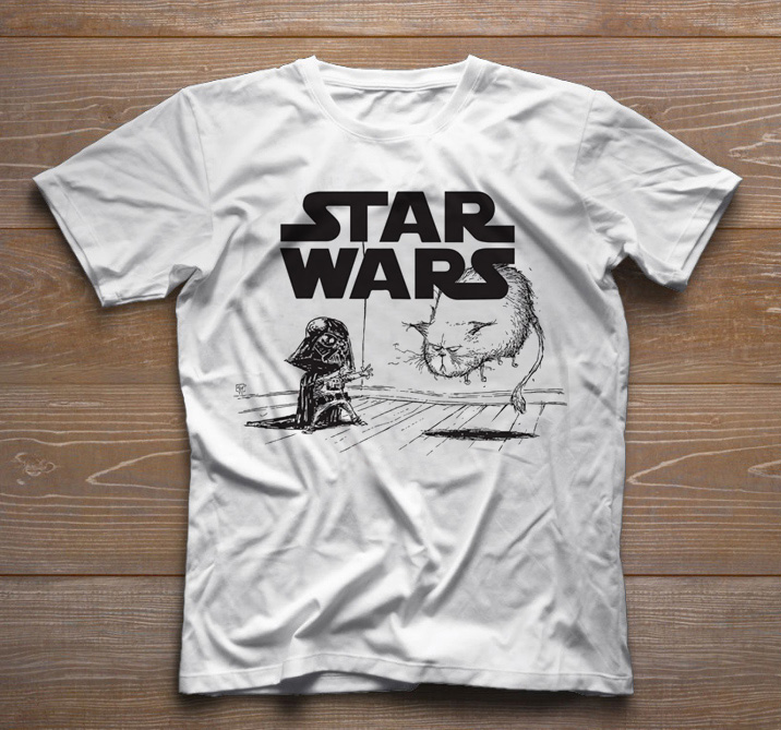Camiseta Infantil Filmes - Star Wars - White  - Baby Monster S/A