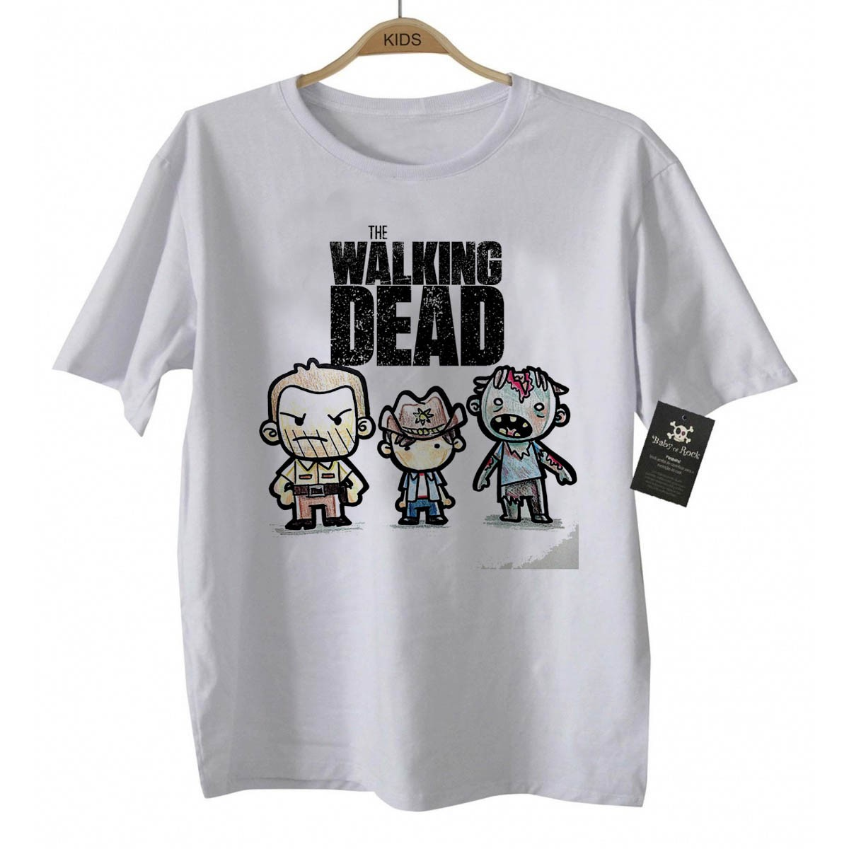Camiseta Infantil Série - The Walking Dead - White  - Baby Monster - Body Bebe