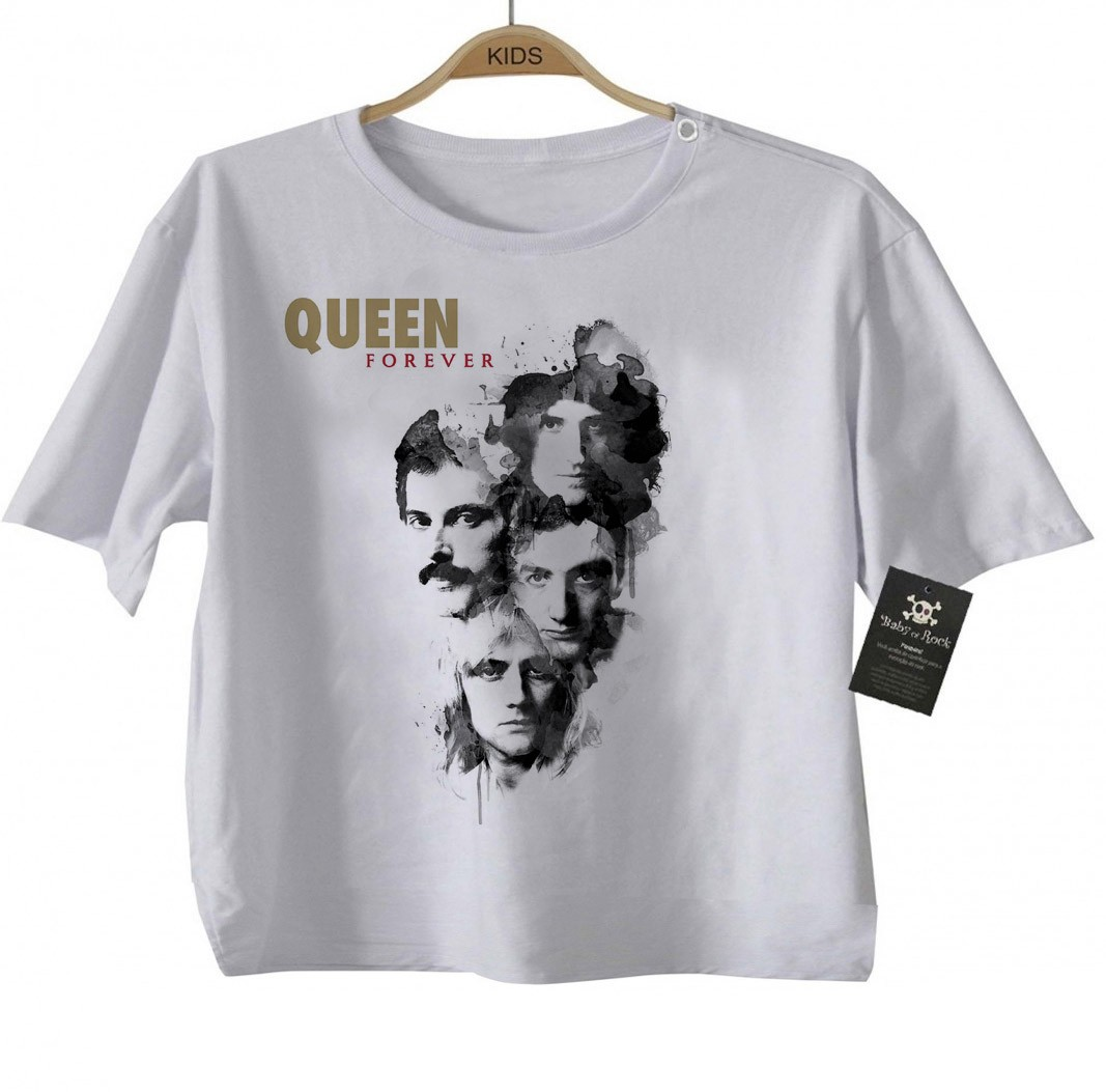 Camiseta  Infantil Rock - Queen - White  - Baby Monster S/A