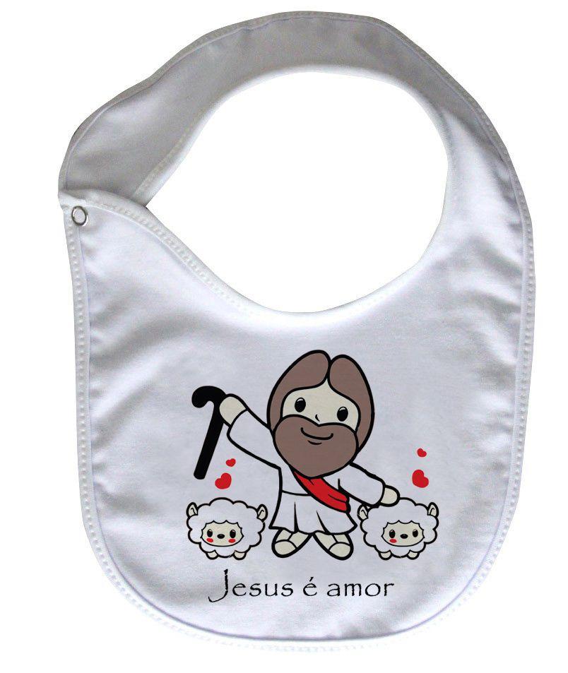 Babador Gospel  - Jesus é amor - White  - Baby Monster S/A