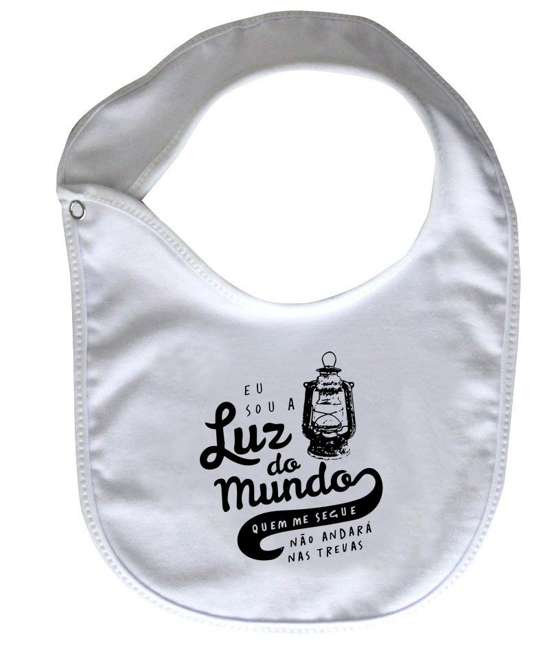Babador Gospel  - Luz do mundo - White  - Baby Monster - Body Bebe
