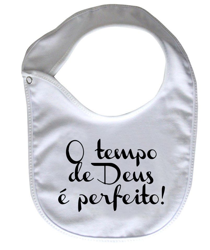 Babador Gospel  - Tempo de Deus - White  - Baby Monster - Body Bebe