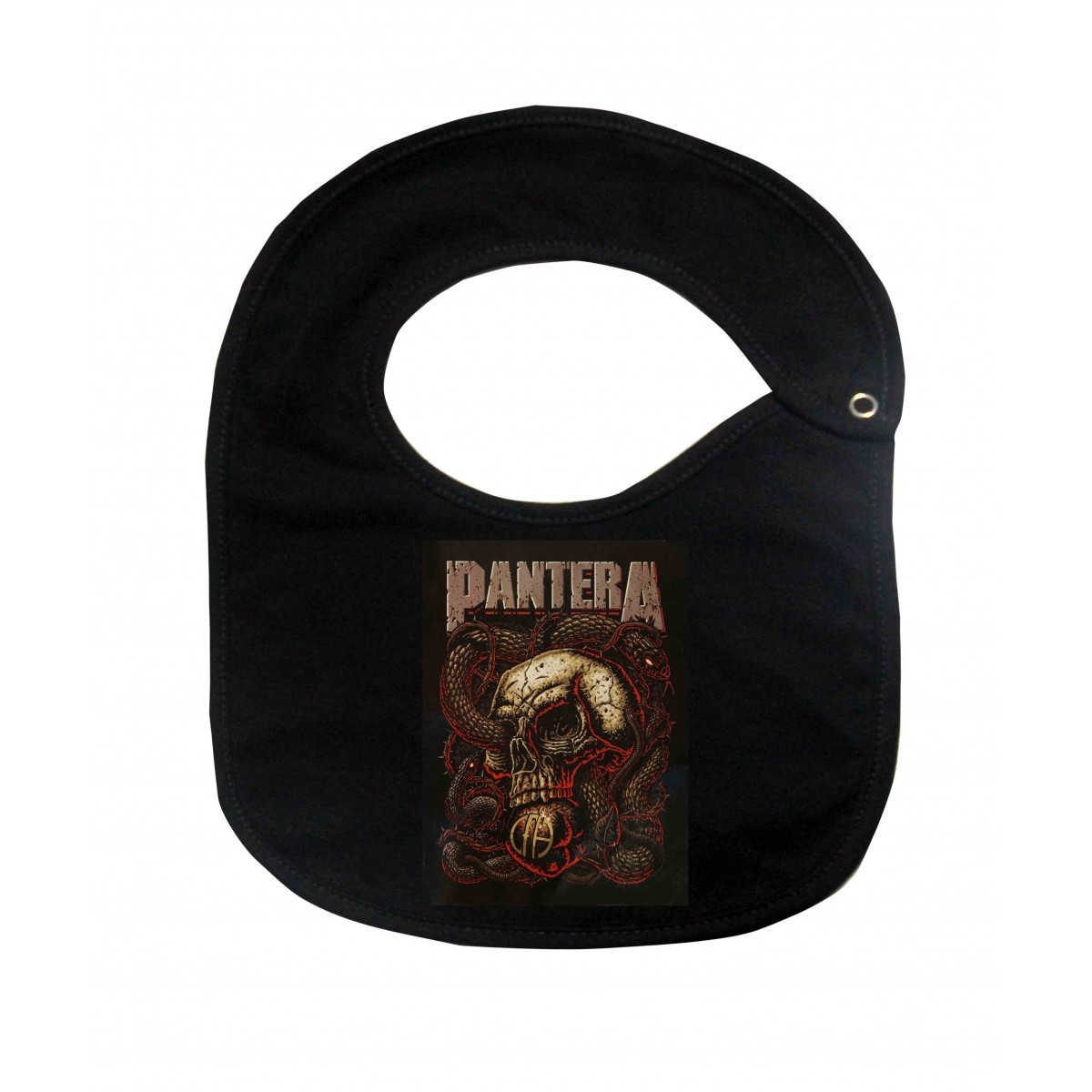 Babador  Rock Baby  - Pantera - Black  - Baby Monster - Body Bebe