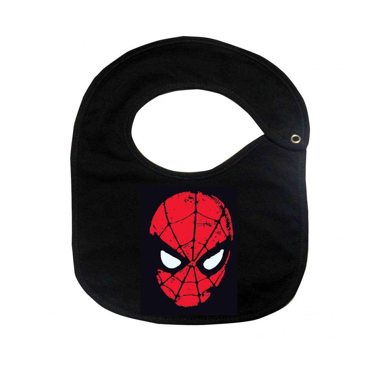 Babador Super Heróis Baby  - Homem Aranha  - Black  - Baby Monster S/A