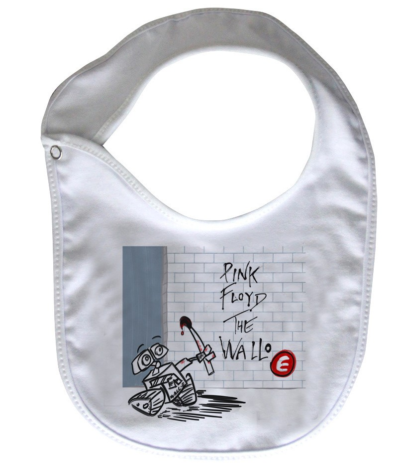 Babador  Rock Baby  - wall-e / Pink Floyd- White  - Baby Monster - Body Bebe