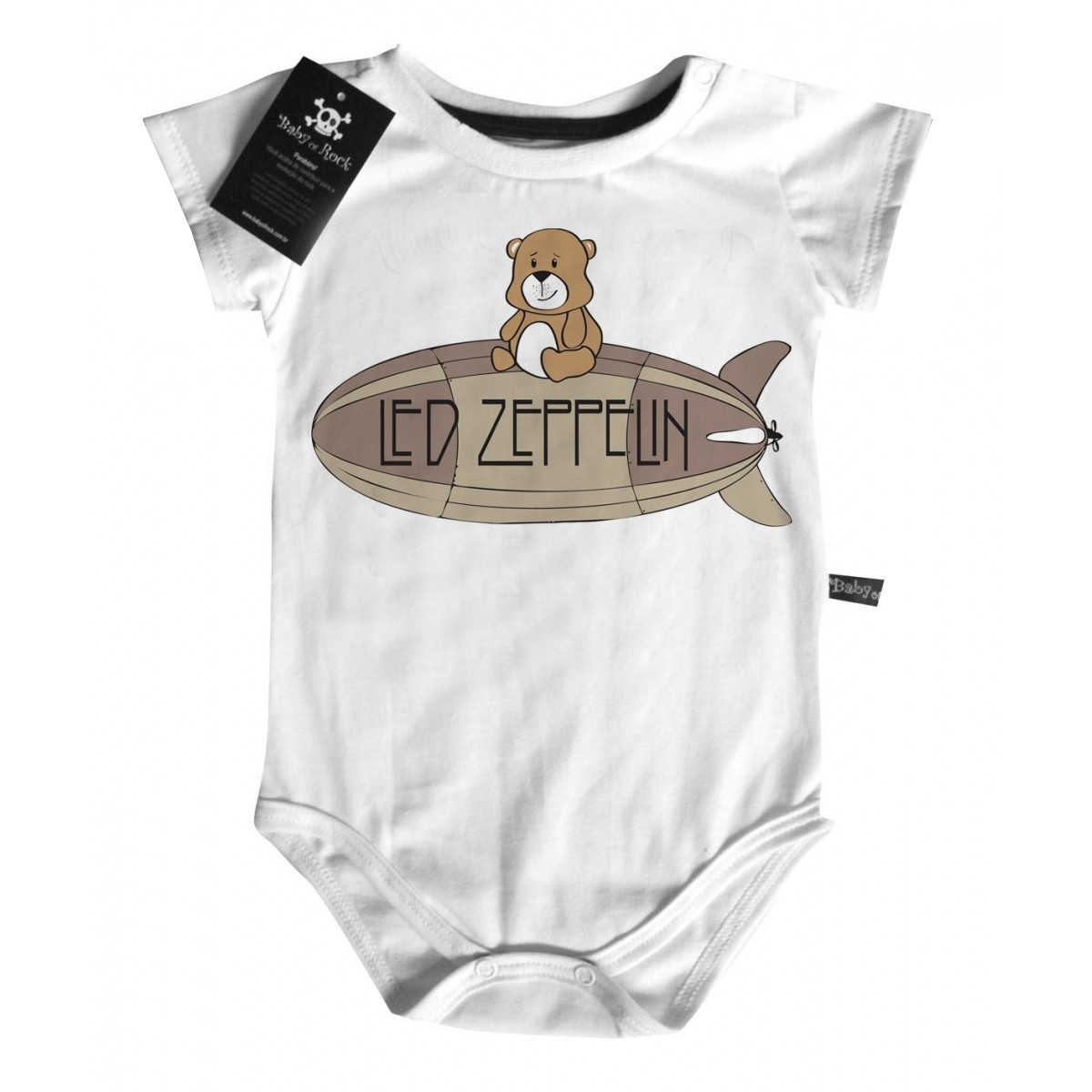 Body Rock   Led Zeppelin Cute - D- White  - Baby Monster S/A