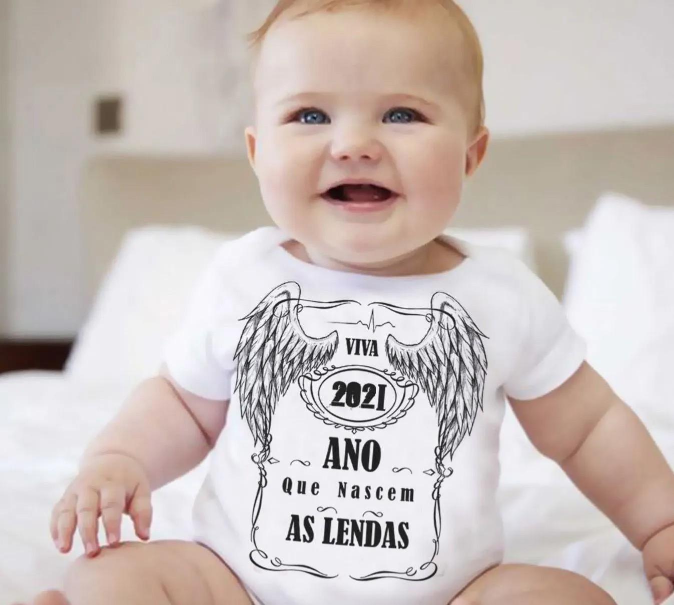 Body 2021 Ano que Nascem as Lendas - white -   - Baby Monster S/A
