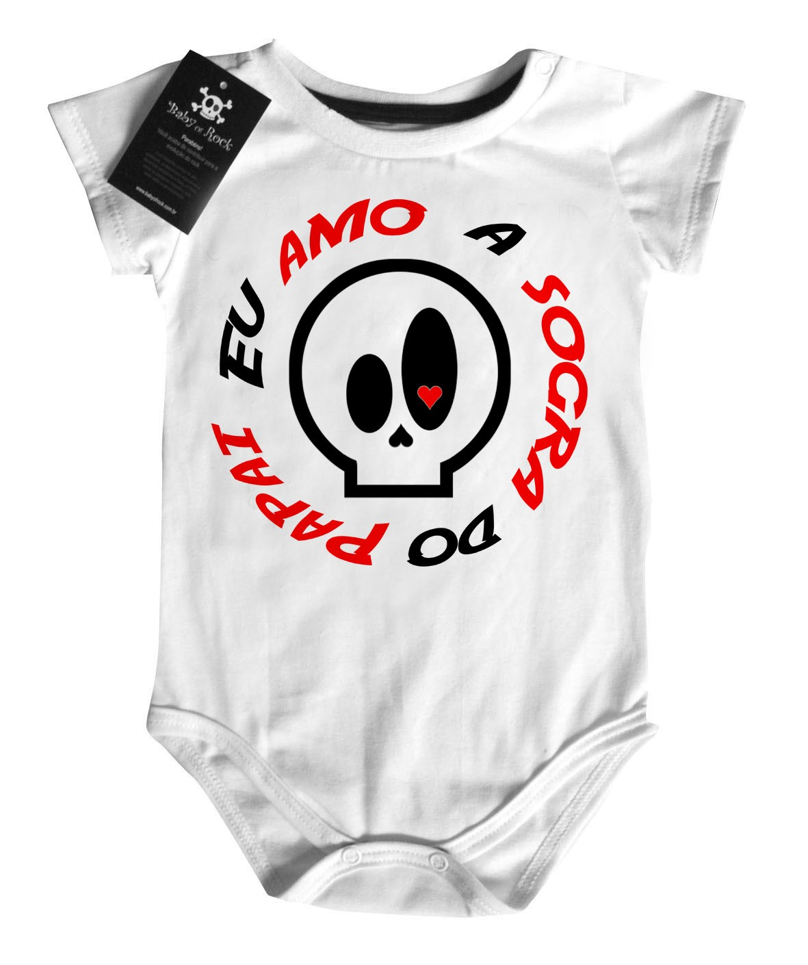 Body Baby Divertido - Amo a sogra do Papai - White  - Baby Monster S/A
