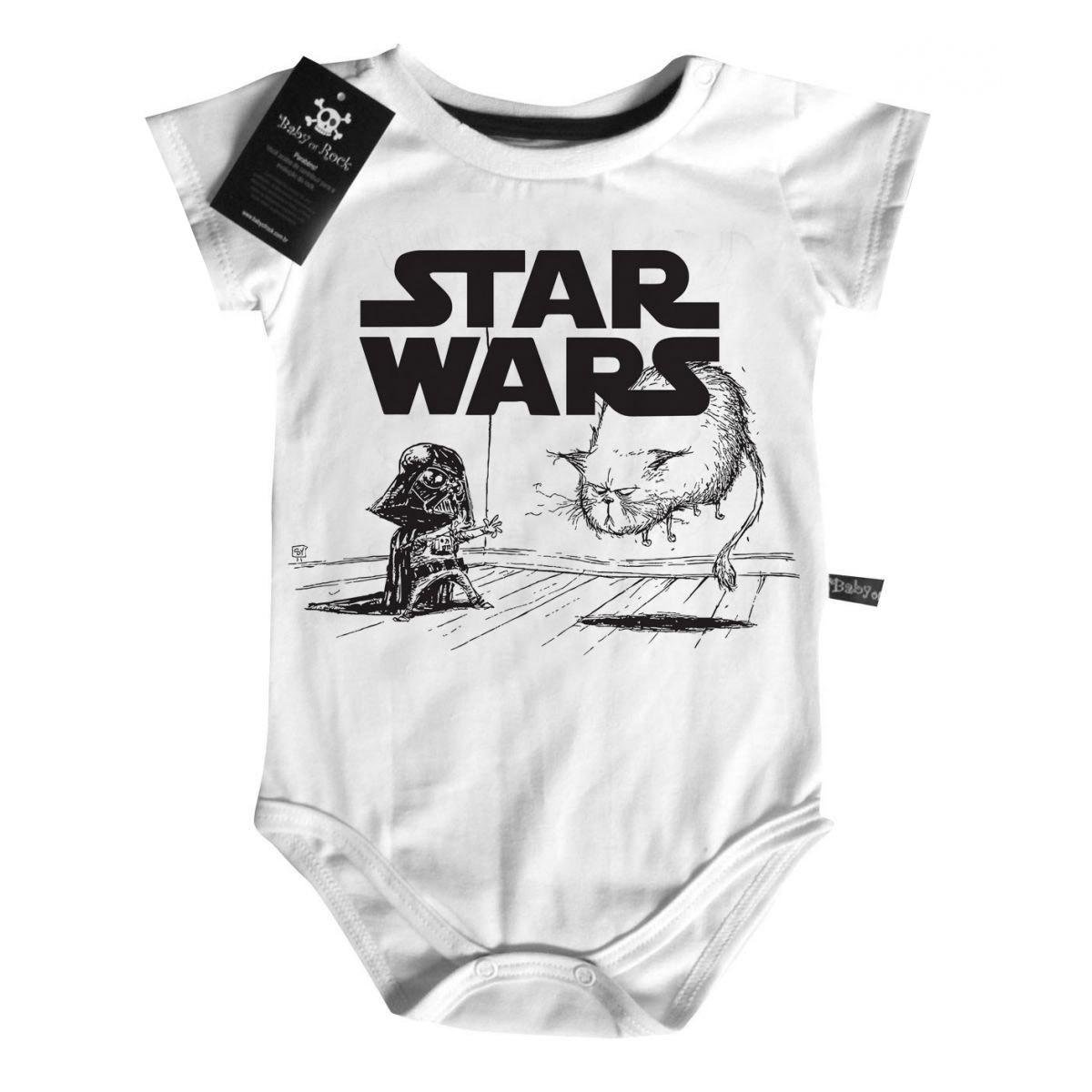 Body Baby Filmes - Star Wars- White  - Baby Monster - Body Bebe