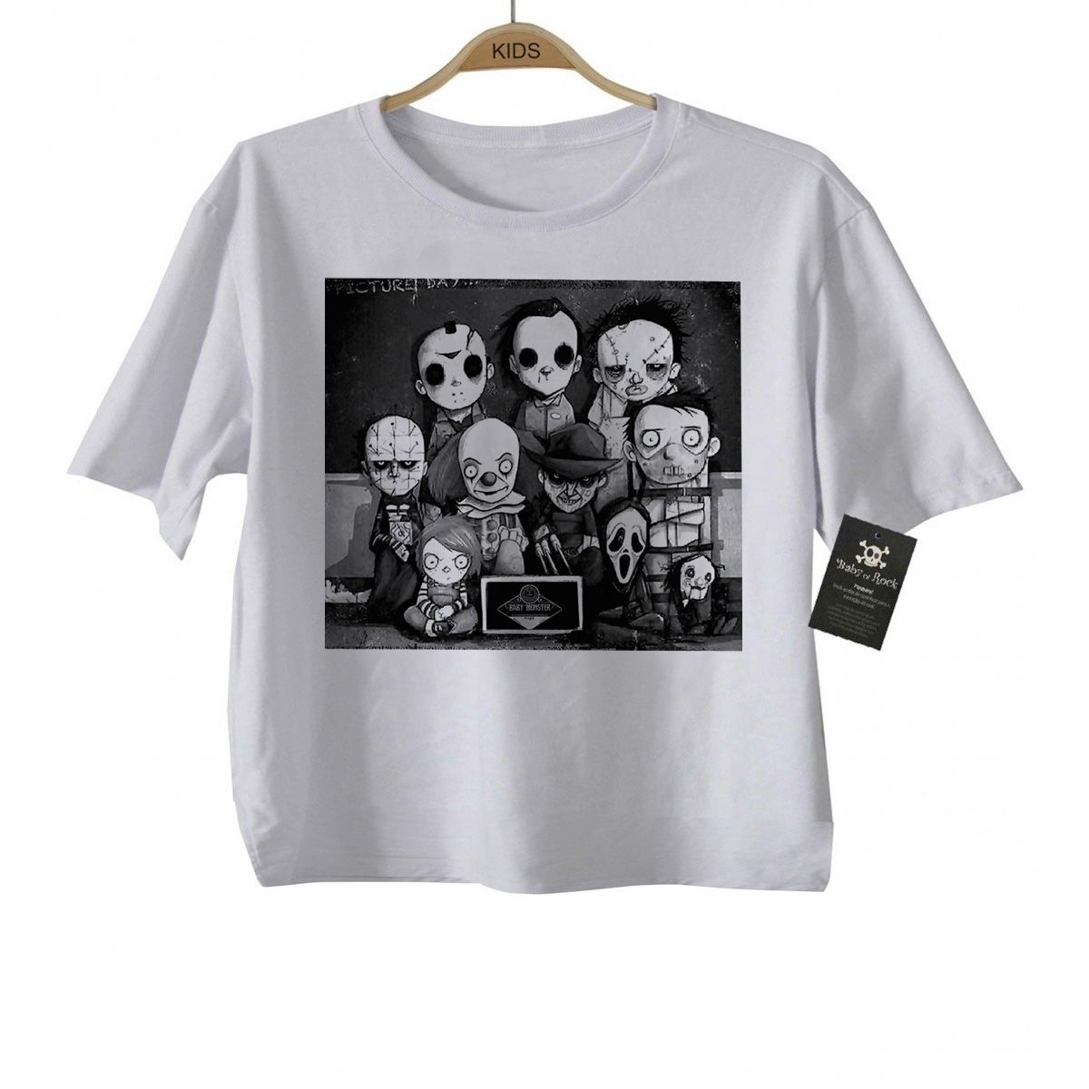 Body Baby ou Camiseta Infantil  Classe do Terror CUte white  - Baby Monster S/A