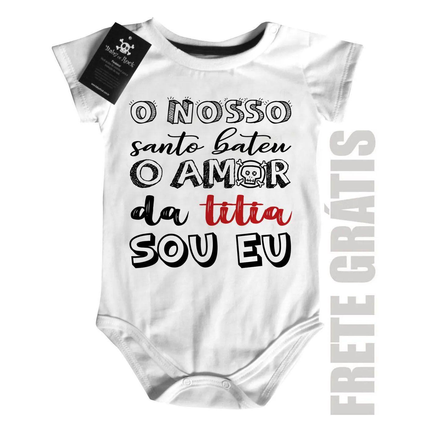 Body Bebê Amor da Titia- White  - Baby Monster S/A