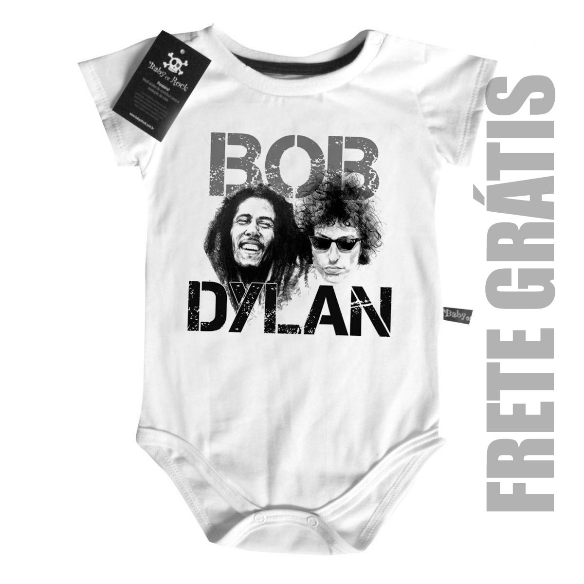 Body Baby Rock n Roll - Bob & Dylan- White  - Baby Monster S/A