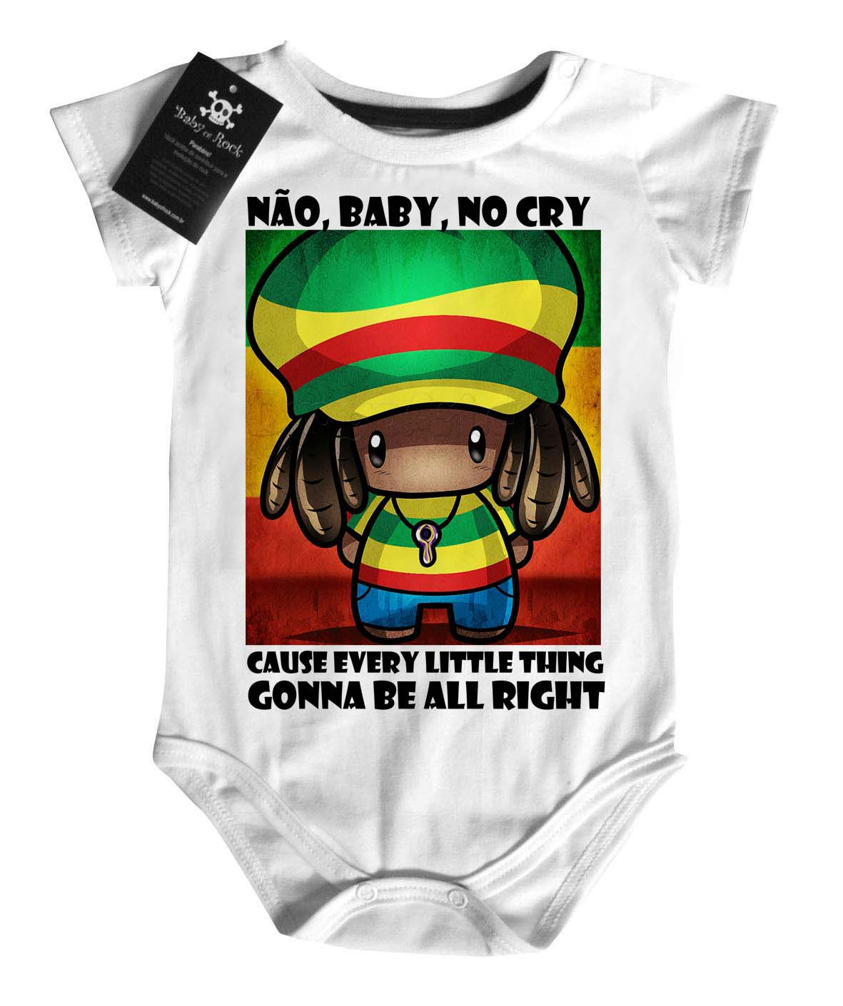 Body Bebe Bob Marley No Baby Cry - white  - Baby Monster - Body Bebe