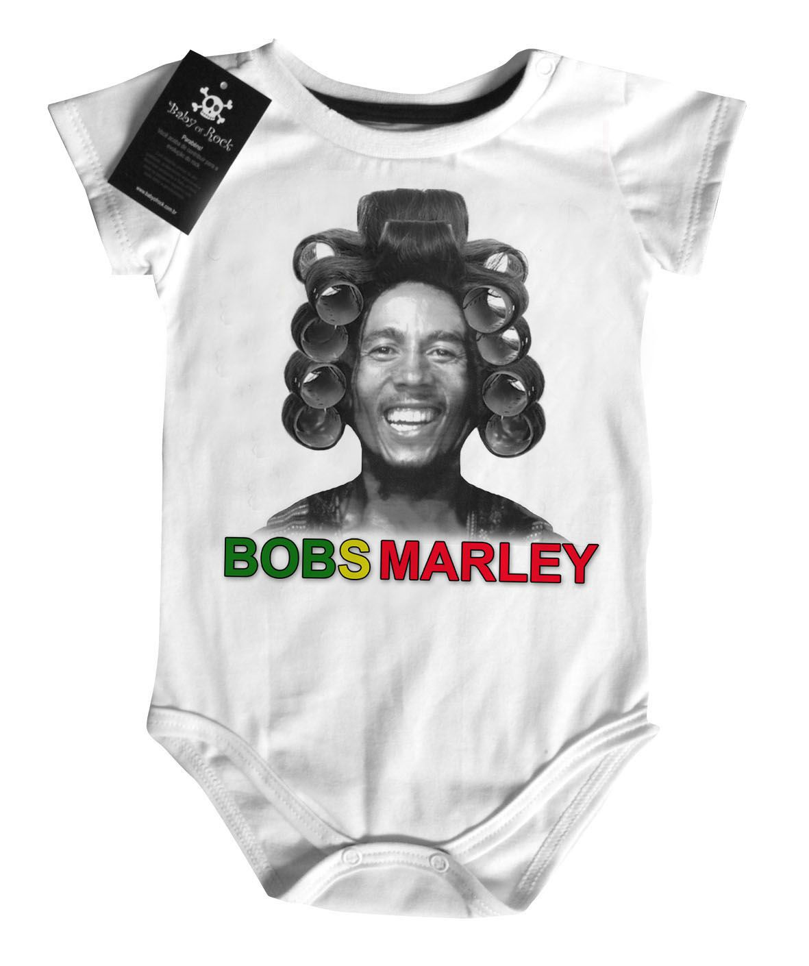 Body Bebê | Bobs Marley | white  - Baby Monster S/A