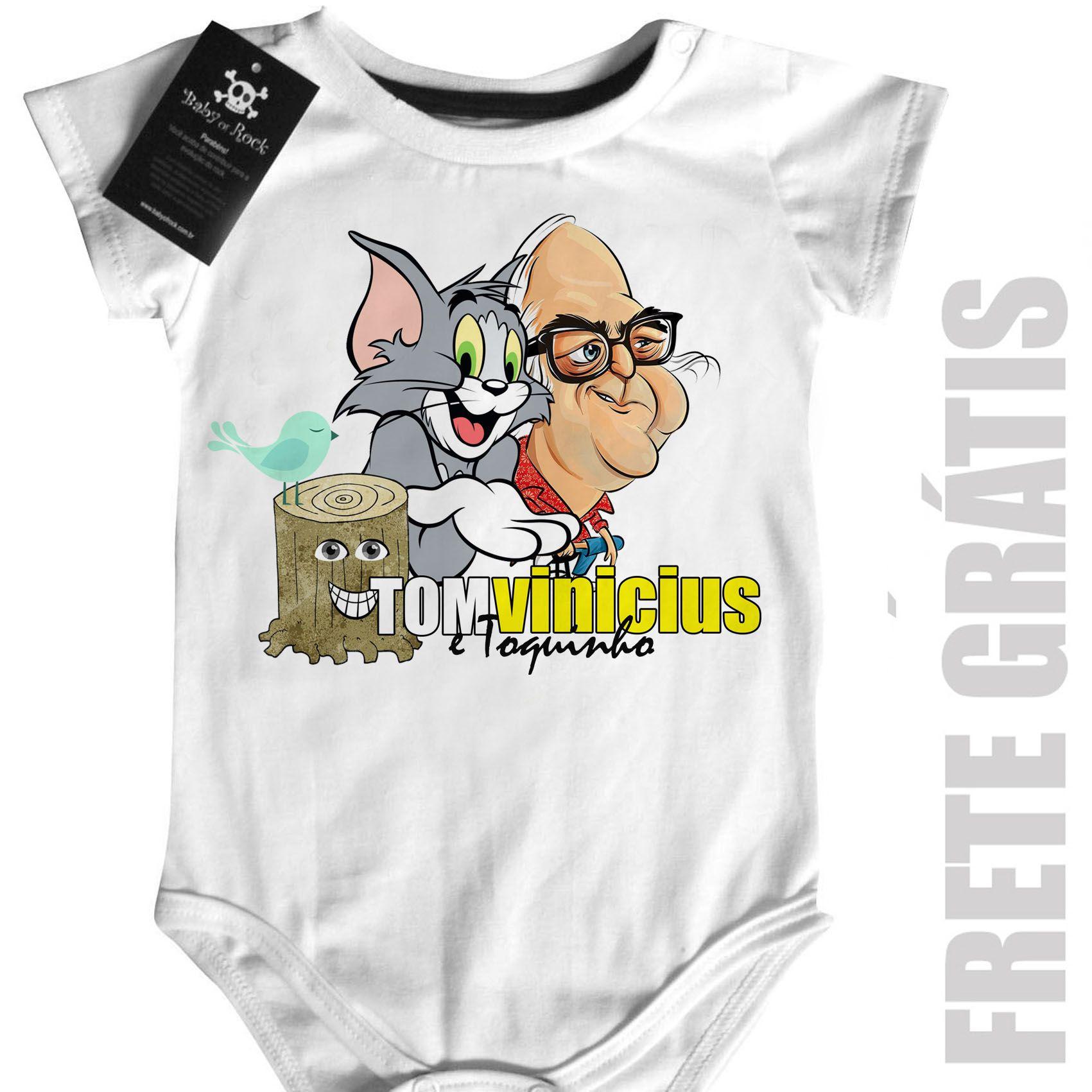 Body Bebê Bossa Nova - Tom Jobim e Vincius de Moraes - White  - Baby Monster - Body Bebe