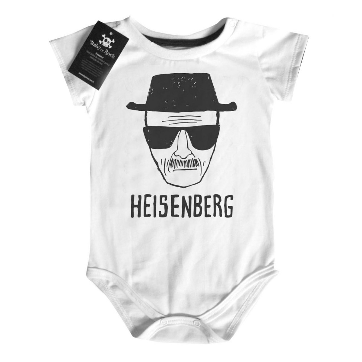 Body Bebê Breaking Bad - Heisenberg - White  - Baby Monster S/A