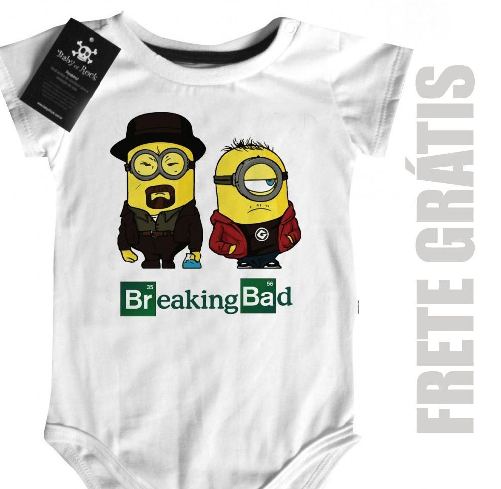 Body Bebe Breaking Bad -  Minons - White  - Baby Monster S/A