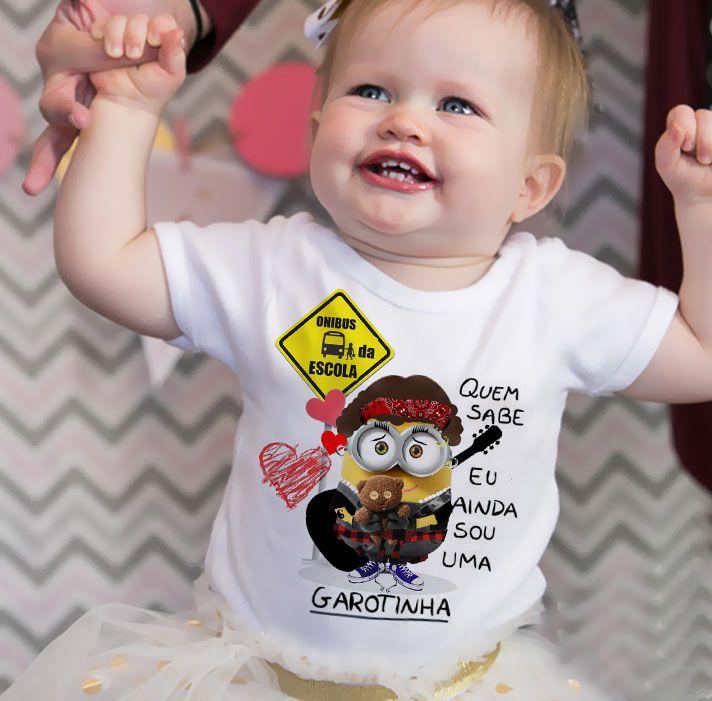 Body Bebe Cassia Eller Minions - White  - Baby Monster S/A