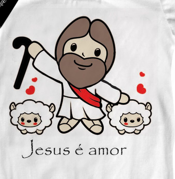 Body Bebe Cristão Jesus é amor - White  - Baby Monster - Body Bebe