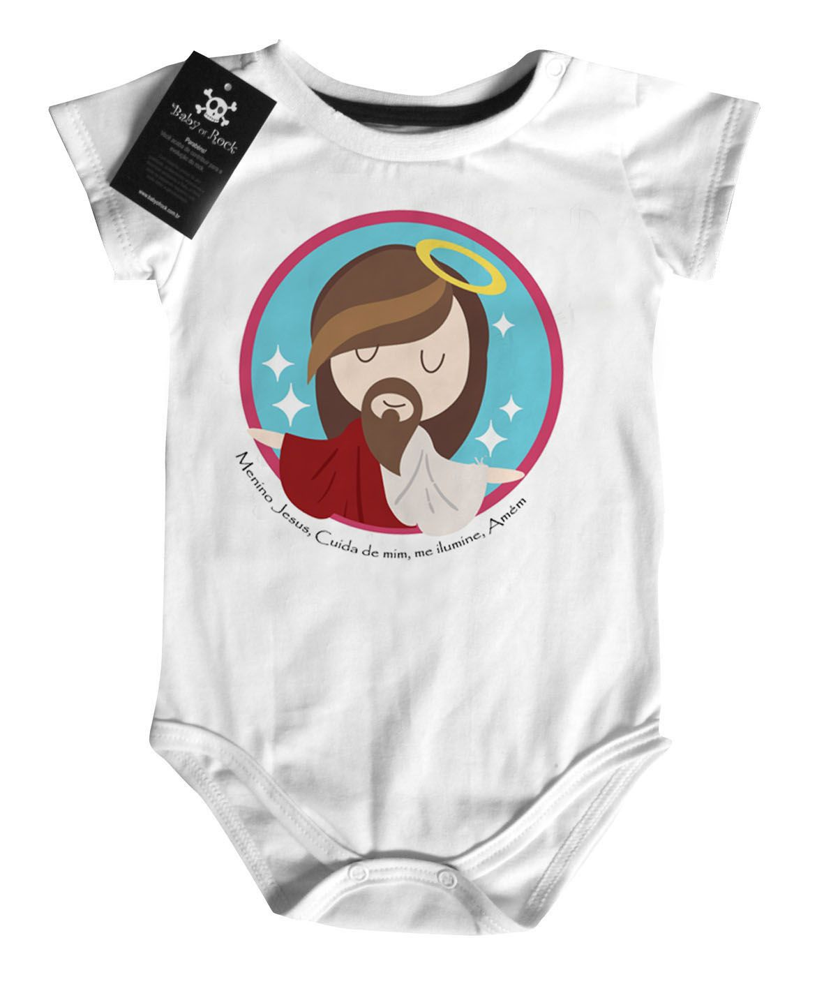 Body Bebe Cristão Menino Jesus - White -  - Baby Monster S/A