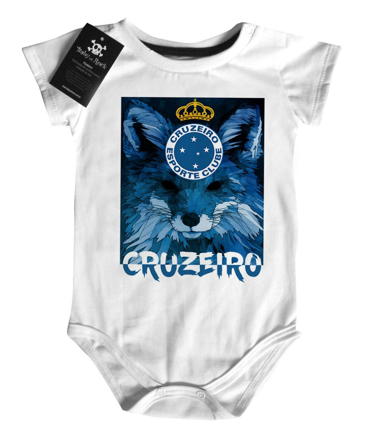 Body Bebe de Cruzeiro Time- Futebol - White - BABY MONSTER - c4489bb7fbe