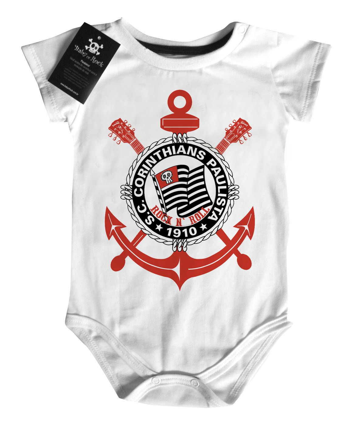 Body Bebe de FutRock  Time-  Corinthians Rock N