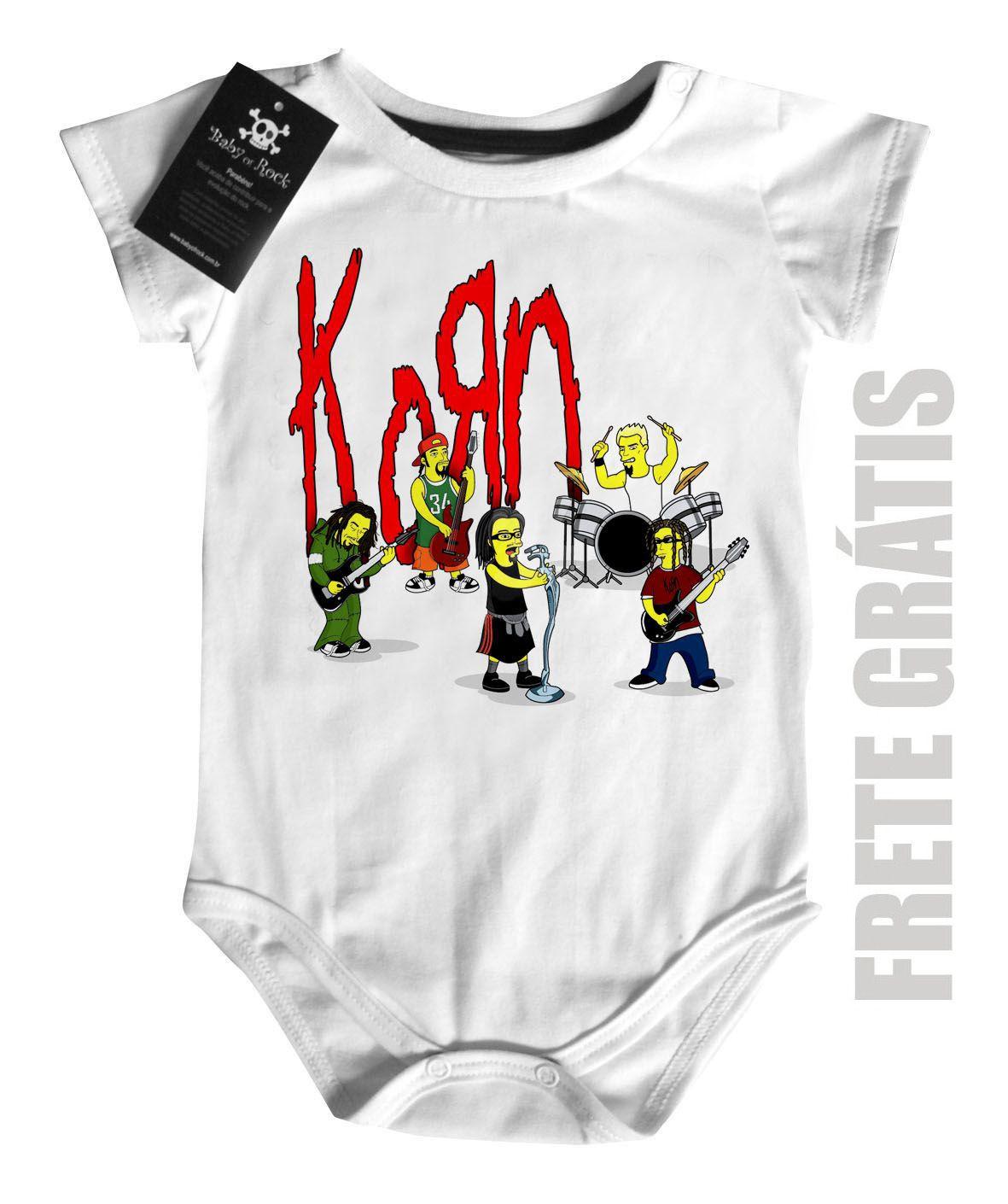 Body Bebe de  Rock Baby-  Korn Simpsons - White  - Baby Monster S/A
