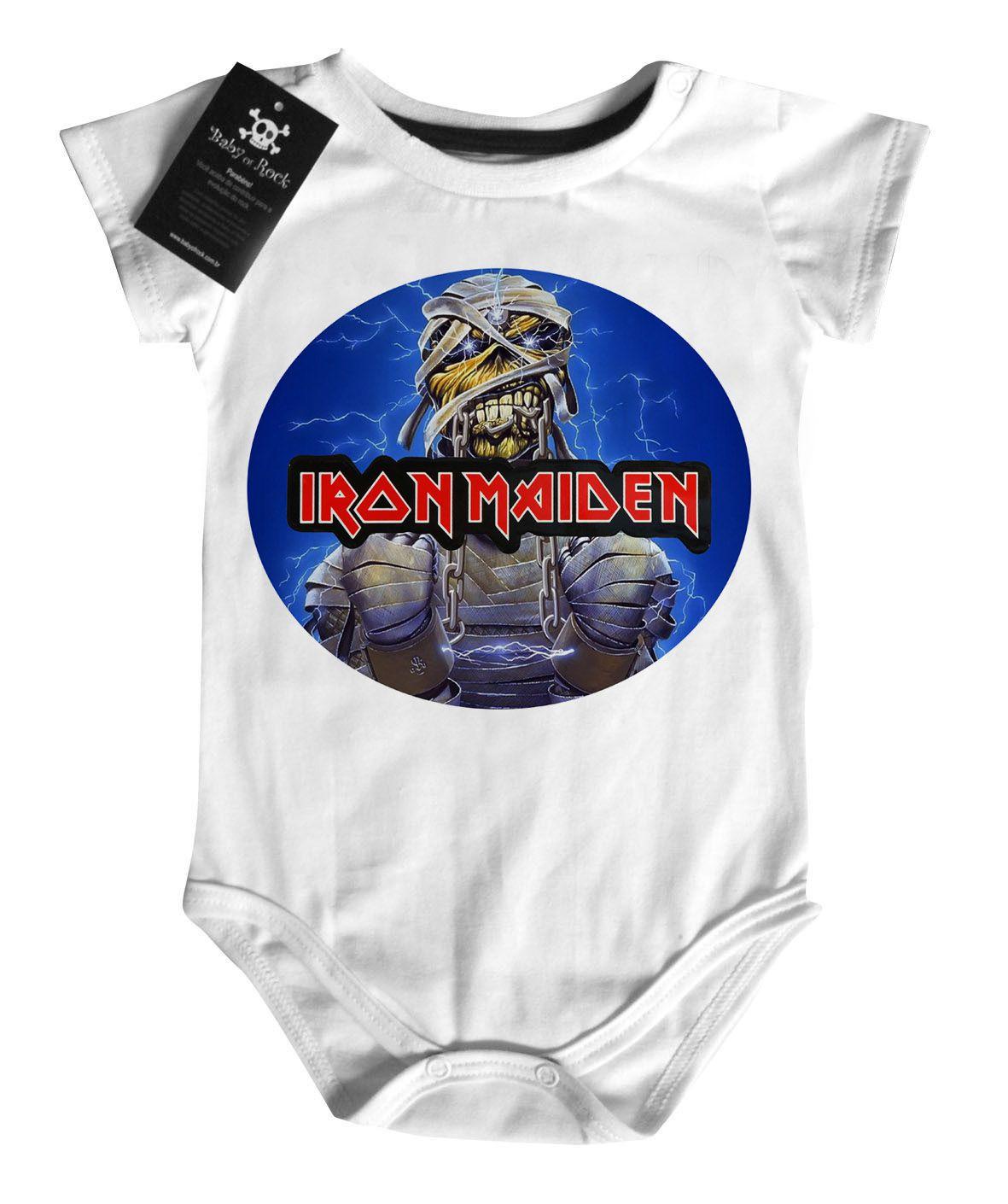 Body Bebe de Rock Iron Eddie - White  - Baby Monster S/A