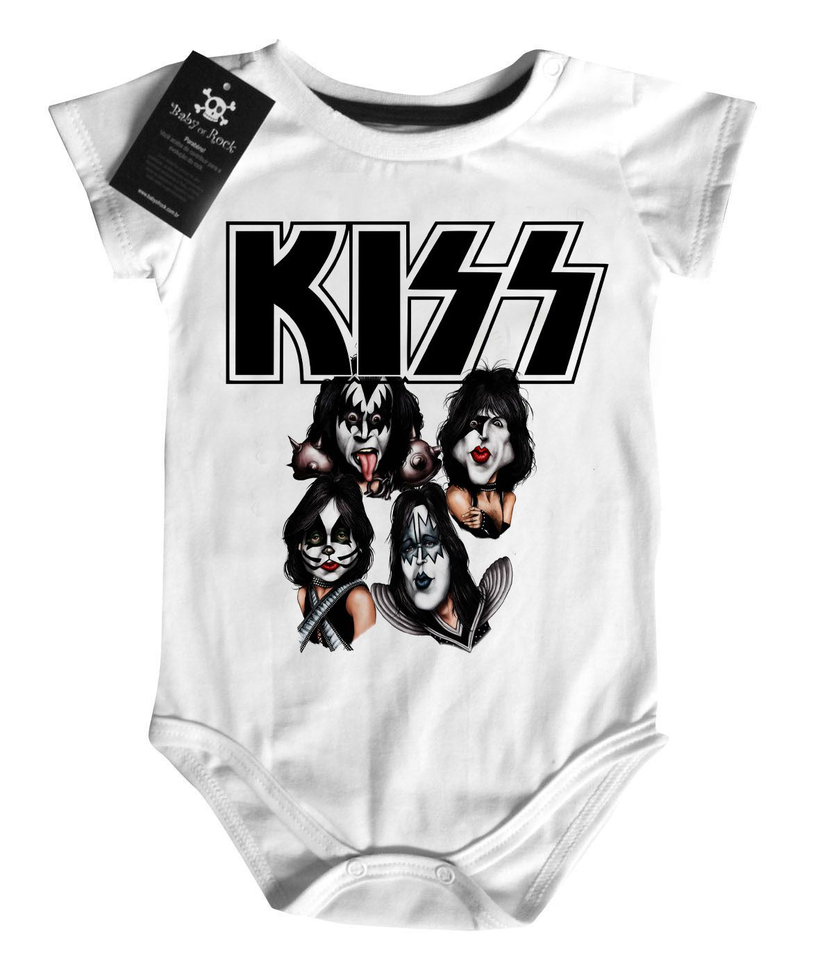 Body Bebe de Rock KISS - White  - Baby Monster S/A