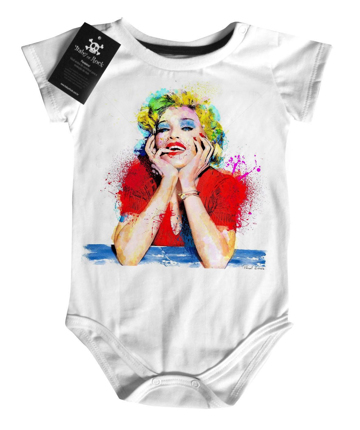 Body Bebe de  Rock -  Madona  - White  - Baby Monster S/A