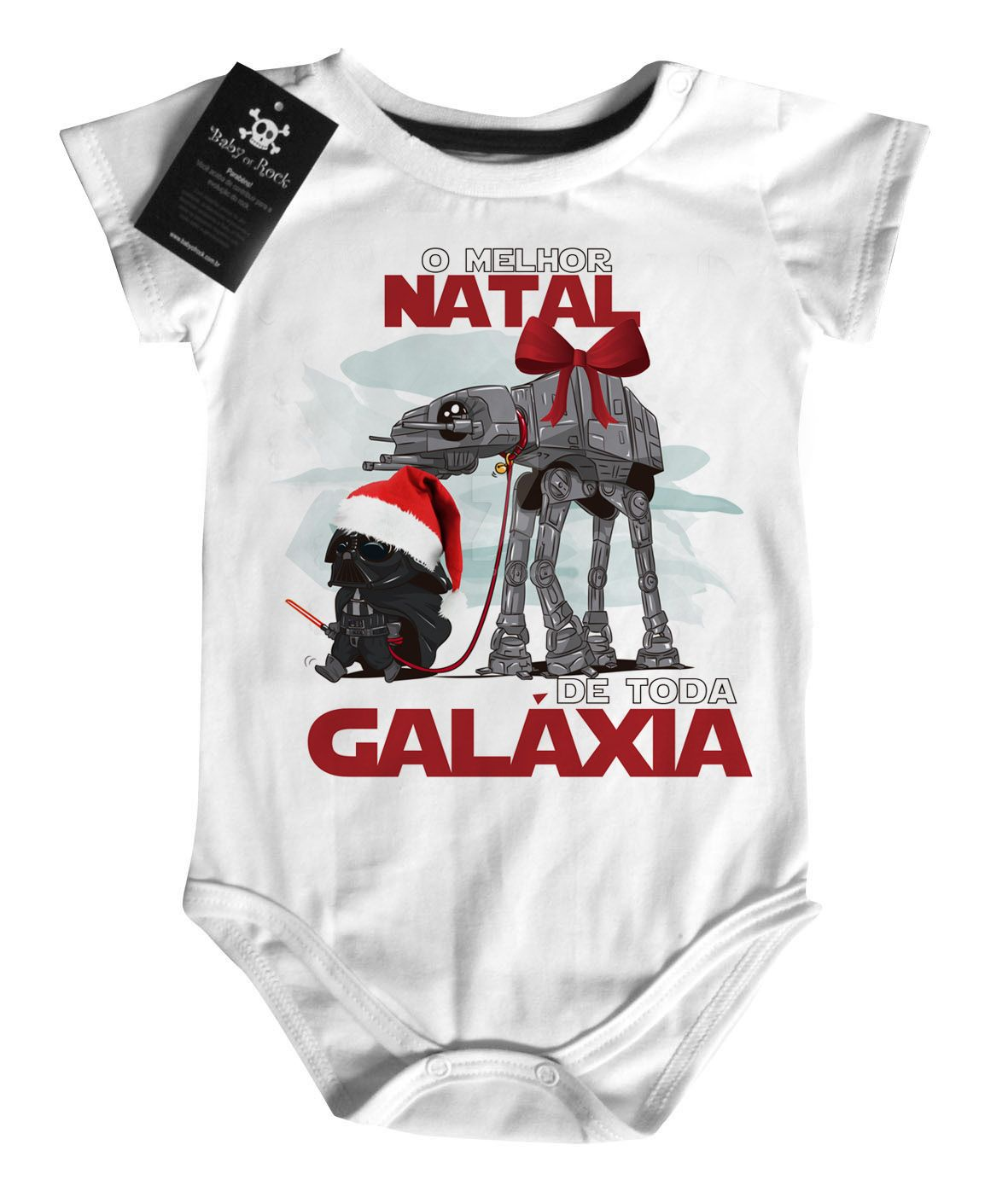 Body Bebe de  Rock Natal - Star Wars - White  - Baby Monster S/A