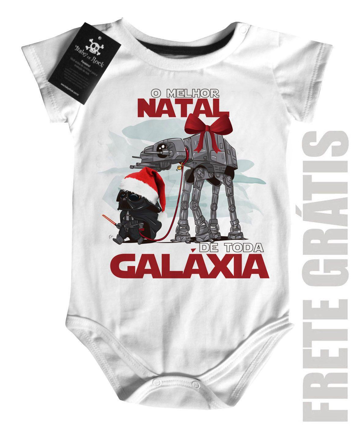 Body Bebe de  Rock Natal - Star Wars - White  - Baby Monster S/A