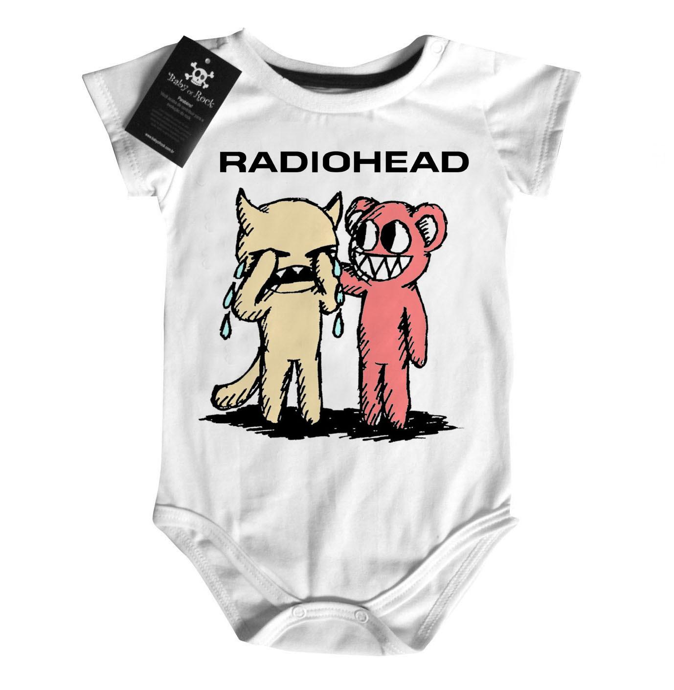 Body  Bebê de Rock Radiohead Cute - White  - Baby Monster S/A