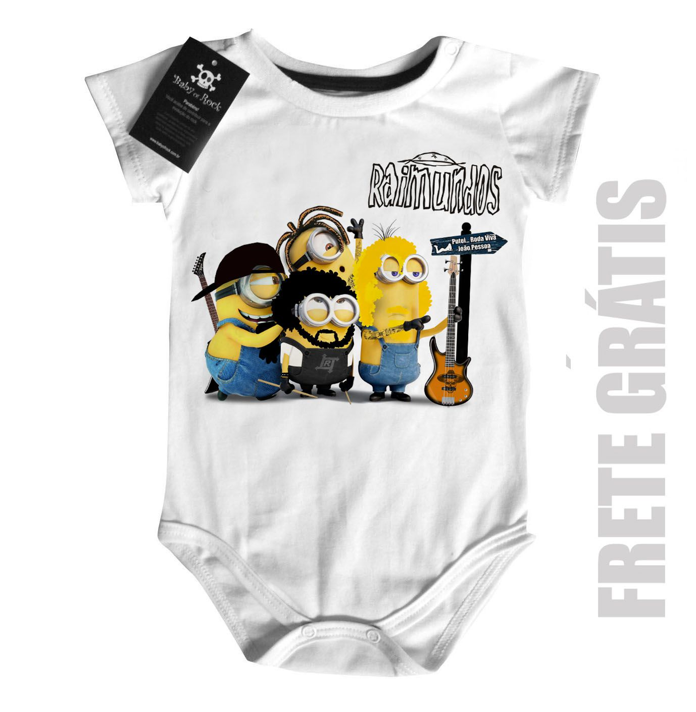 Body Bebê de Rock Raimundos Minions Baby Monster  - Baby Monster S/A
