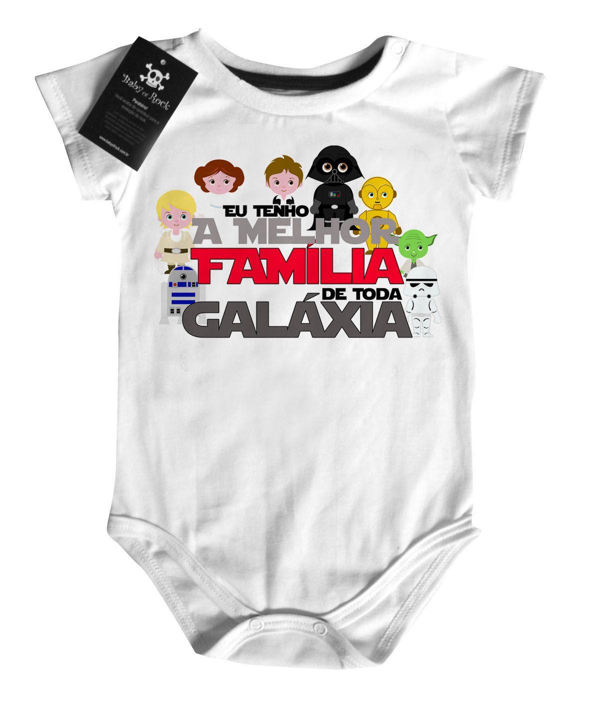 Body Bebe eu Tenho a melhor Família de Toda Galáxia   - Baby Monster S/A