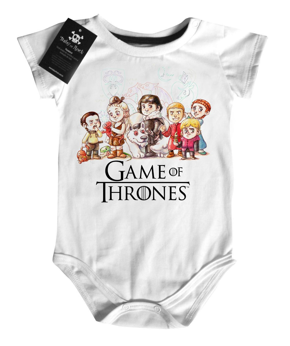 Body Bebê - Filmes - Game of Thrones - Aquarela White  - Baby Monster S/A