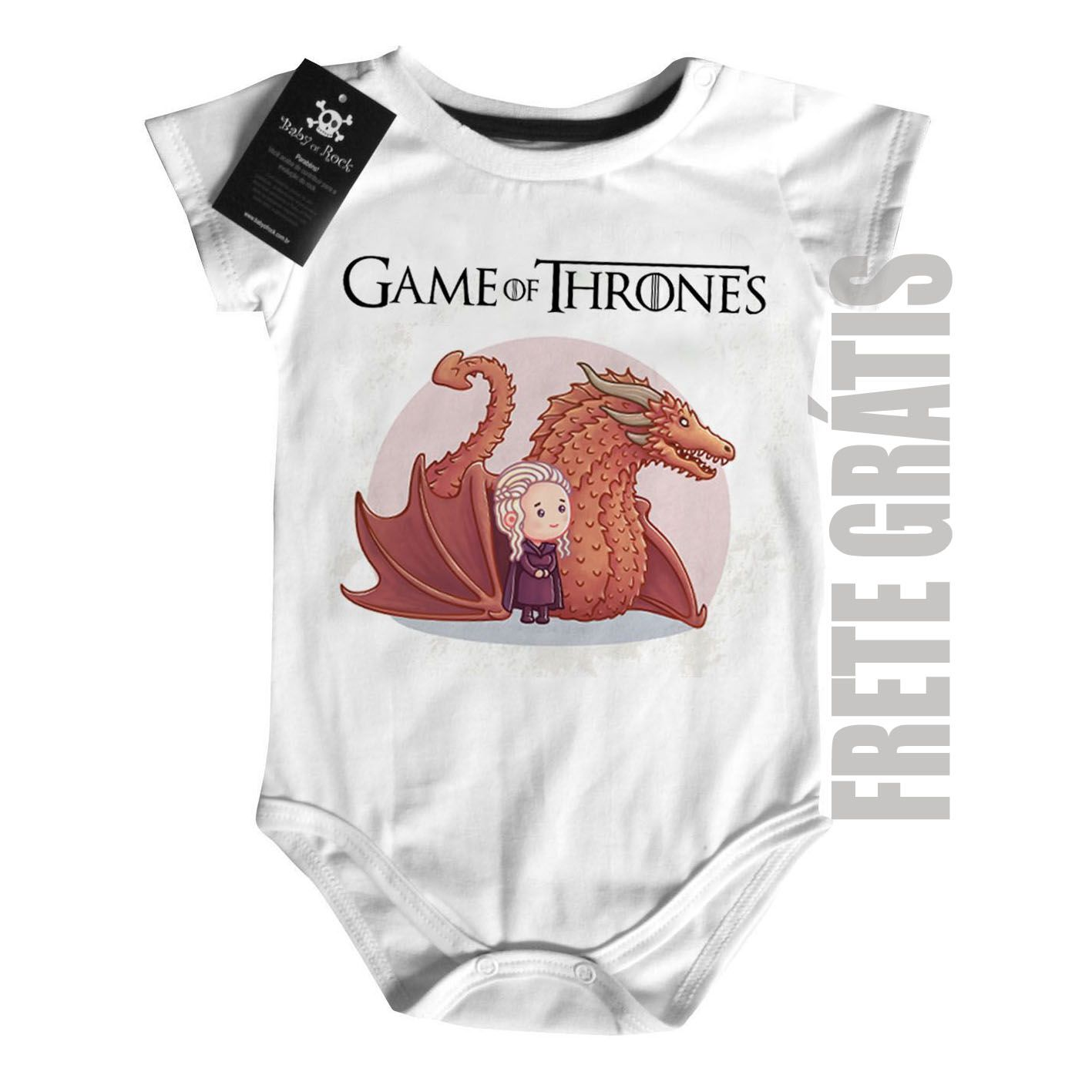 Body Bebê - Filmes - Game of Thrones - Daenerys White  - Baby Monster - Body Bebe