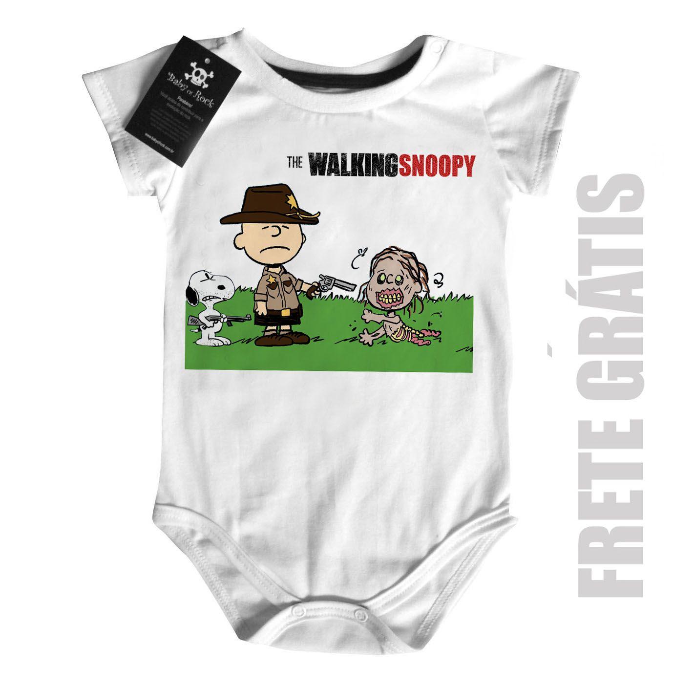 Body Bebê Filmes The Walking Dead Snoopy   - Baby Monster S/A