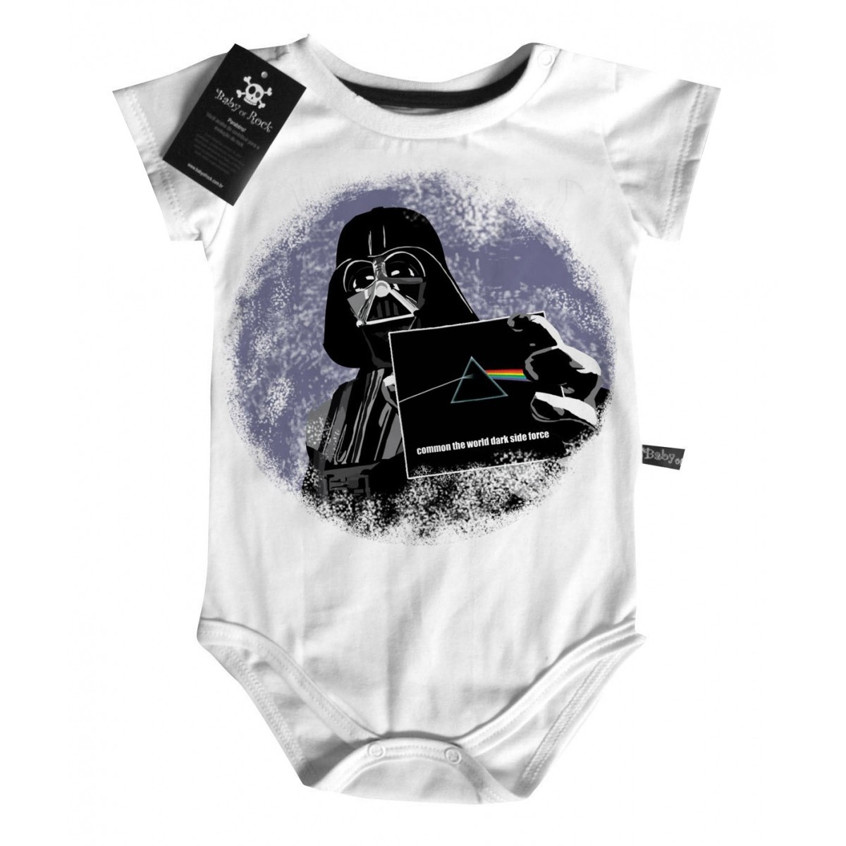 Body Bebê Floyd/Darth  - White - Baby Monster S/A