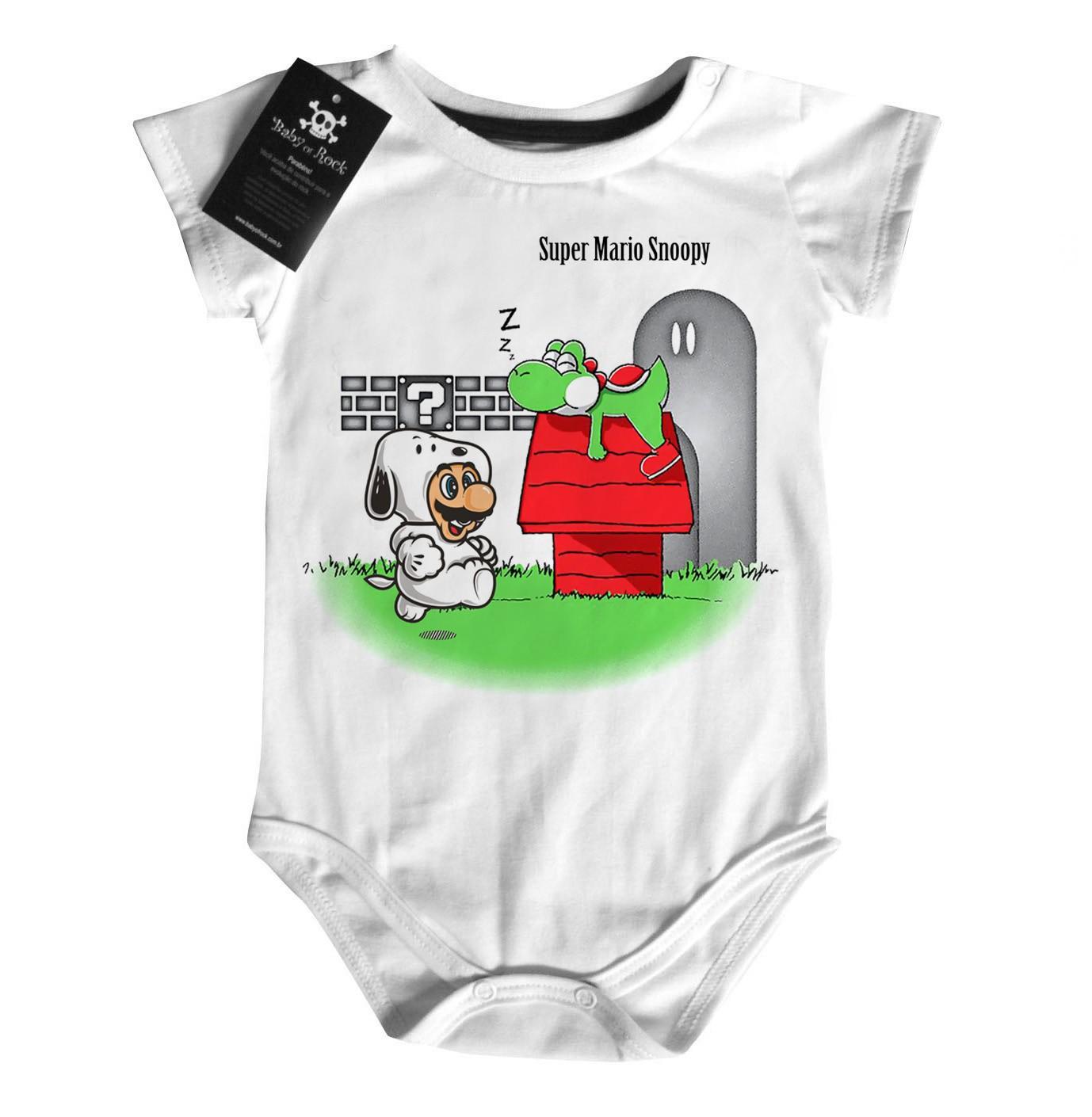 Body Bebe Game Mario Snoopy  - Baby Monster S/A